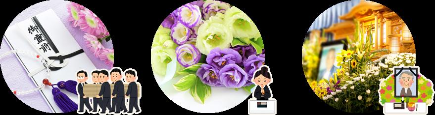 葬祭に関する御霊前・花束など